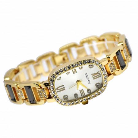 ceas auriu cu pietricele