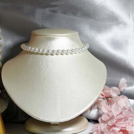 colier perle albe