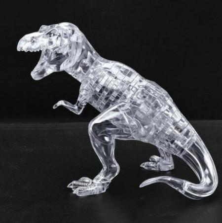 Puzzle 3D din 50 de piese, model dinozaur T-rex, transparent