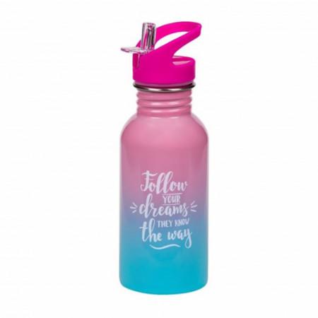Sticla metalica pentru apa Follow your dreams, 500 ml