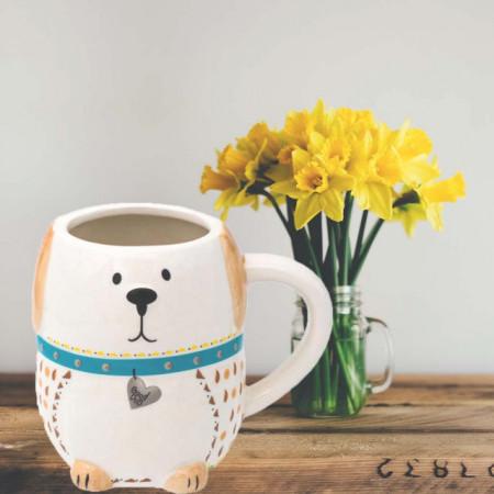 Cana din ceramica Pufo Dog, 550 ml