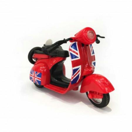 Motocicleta metalica Vespa pentru copii, rosie