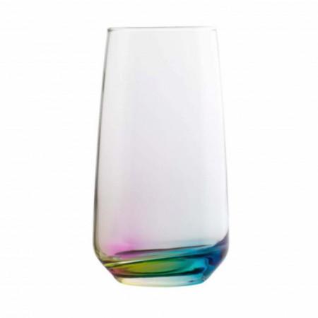 pahar din sticla cu fund colorat