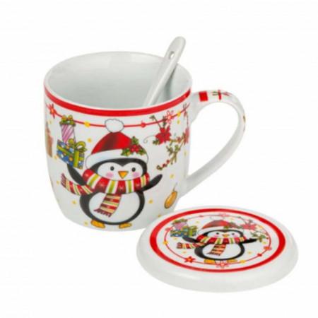 cana de ceai sau cafea model sarbatoare