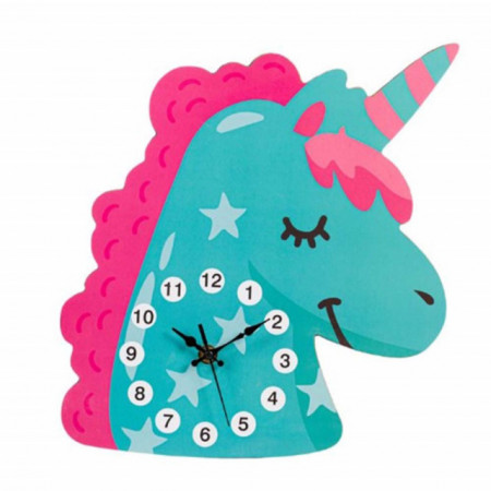 ceas de perete forma de unicorn