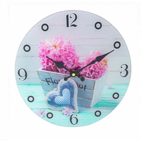 ceas de perete din sticla