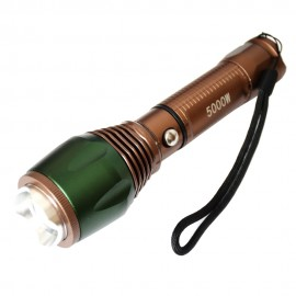 Poze Lanterna metalica 3W CREE LED, acumulator LiIon 18650 (6800 mAh), incarcator de camera + auto