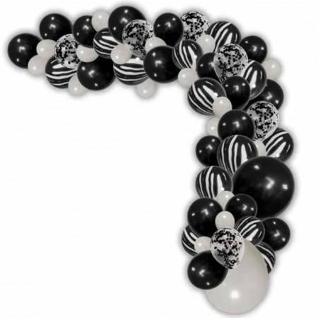 set baloane negre si albe