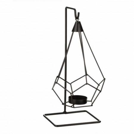 suport metalic inalt pentru lumanare