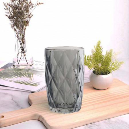 Set 6 pahare din sticla Pufo Diamond, 350 ml