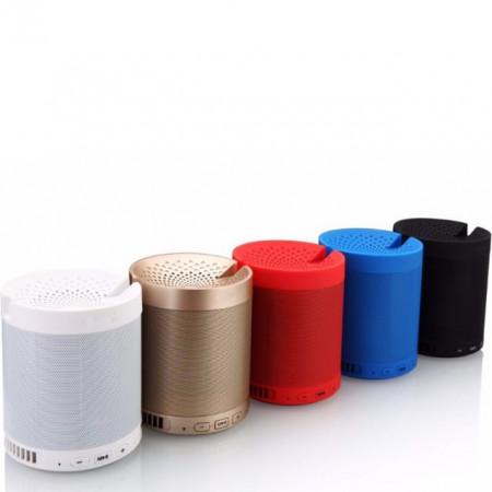 Boxa portabila Bluetooth Wireless, USB, TF Card, port auxiliar si suport pentru telefonul mobil, alb