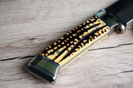 Cutit de vanatoare 30,5 cm, maner imitatie corn cerb + teaca