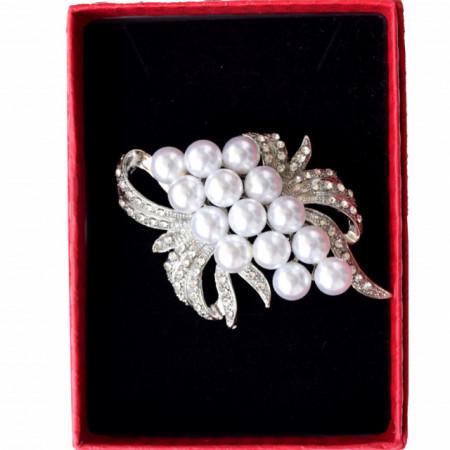 brosa eleganta in cutie cadou