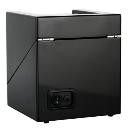 Cutie caseta Pufo Premium de prezentare si de intors ceasuri automatice, 2 locuri, negru