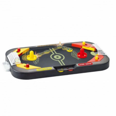 Mini joc de masa model 2 in 1, Air hockey si fotbal, Pufo
