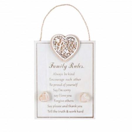 placa decorativa familie
