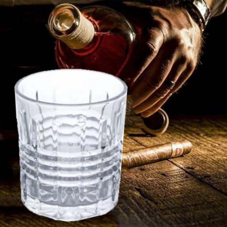 Set 6 pahare Pufo Clasic din sticla pentru whisky, 300 ml