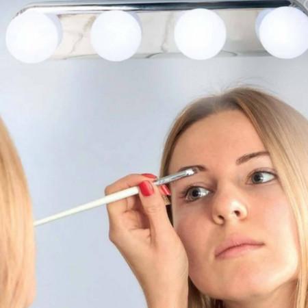 Suport luminos Pufo pentru oglinda, 4 becuri, 30cm, Pufo