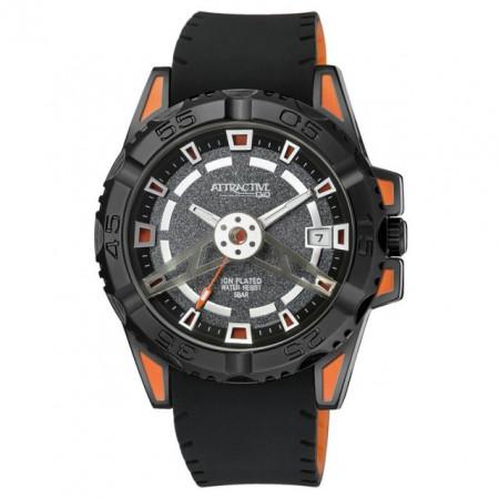 Ceas barbatesc Q&Q Attractive Orange & Black - DA52J522Y