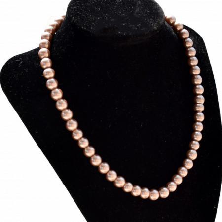 colier dama cu perle cafenii