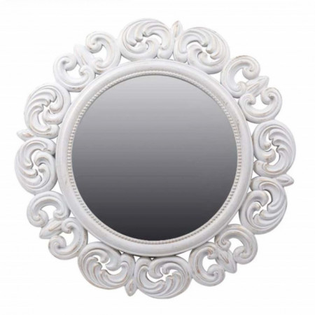 oglinda decorativa eleganta de perete alba