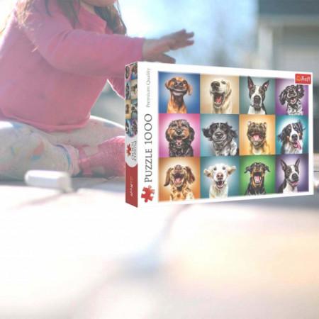 Puzzle modern Cateii veseli 1000 piese, model Premium