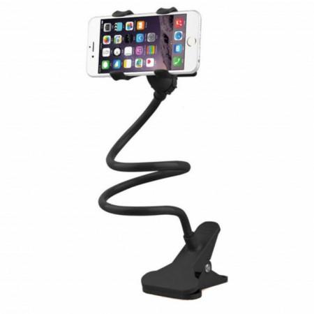 Suport Pufo de birou sau auto pentru telefon si GPS, universal, flexibil si modelabil, negru