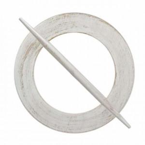 Accesoriu de lemn tip agrafa pentru prindere draperie sau perdea, Pufo, alb