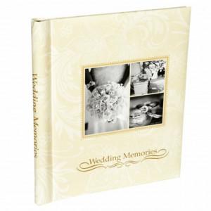 Album foto de nunta Wedding Memories cu 40 pagini, Pufo, crem