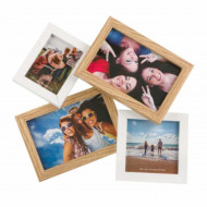 Cadru rama foto decorativ Pufo Whitey pentru 4 poze, 31 x 29 cm