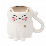 Cana din ceramica Pufo Catty, 420 ml