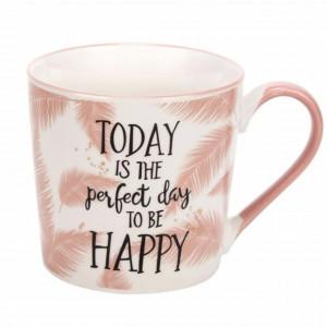 Cana pentru cafea sau ceai Today is a perfect day, 385 ml