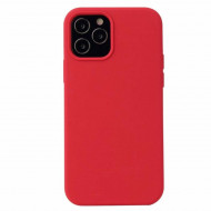 Carcasa de protectie iPhone 12, piele ecologica cu microfibra, rosu