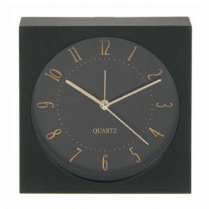 Ceas de masa Pufo Black Admire, 14 x 5 cm, negru