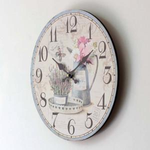 ceas de perete cu flori