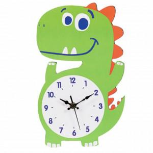 Ceas de perete pentru copii in forma de dinozaur, Pufo
