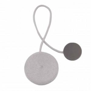 Cordon de strangere pentru draperie sau perdea cu magnet, model Pufo, argintiu
