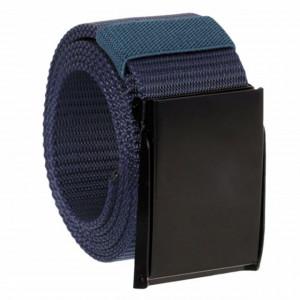 Curea centura Pufo Army Style pentru barbati 3,8 x 120 cm, reglabila, albastru