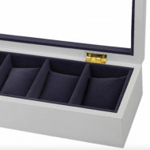cutie caseta din lemn cu pernute din catifea