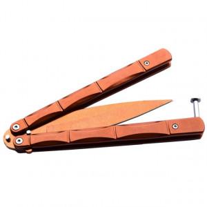 Cutit briceag fluture 24,5 cm, portocaliu