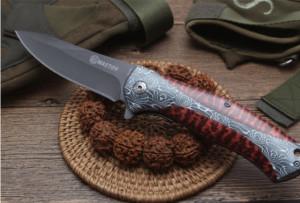 Cutit briceag Mastiff 22 cm, model Leopard Red Print cu sistem de blocare lama