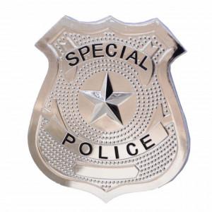 Insigna metalica Special Police pentru copii, 6,5 x 5,5 cm