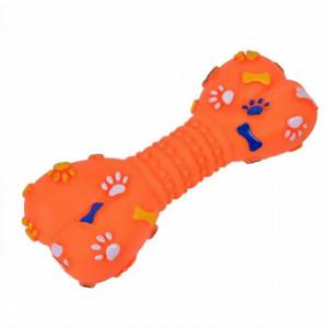 Jucarie distractiva Pufo pentru catei in forma de os, 21 cm