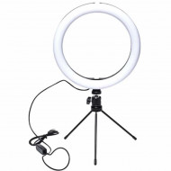 Lampa circulara LED Ring Light cu trepied , cu trepte de lumina reglabila, 360°