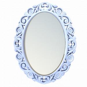 Oglinda decorativa eleganta de perete Pufo Royal, 58 x 45 cm, alba