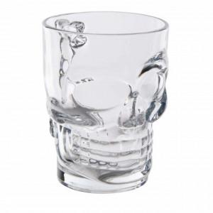 Pahar din sticla pentru bere, forma de craniu, 500 ml, Pufo