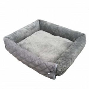 Pat pufos pliabil Pufo Premium pentru animale de companie, cu protectie pentru canapea, scaune, etc, gri, 70 cm