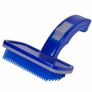 Perie cu maner pentru ingrijirea cateilor, Pufo Dog, 22 cm, albastru