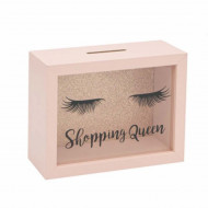 Pusculita decorativa Shopping queen 20 x 15 cm, Pufo