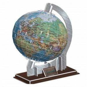 Puzzle 3D pentru copii si adulti Globul pamantesc, 71 piese